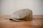 Green Sean Linen Cap by Hanna Hats