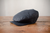 Blue Sean Linen Cap by Hanna Hats