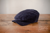 Blue Sean Corduroy Cap by Hanna Hats
